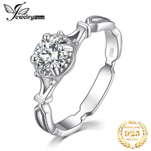 JewelryPalace Vintage CZ Engagement Ring 925 Sterling Silver Rings for Women Anniversary Ring Wedding Rings Silver 925 Jewelry