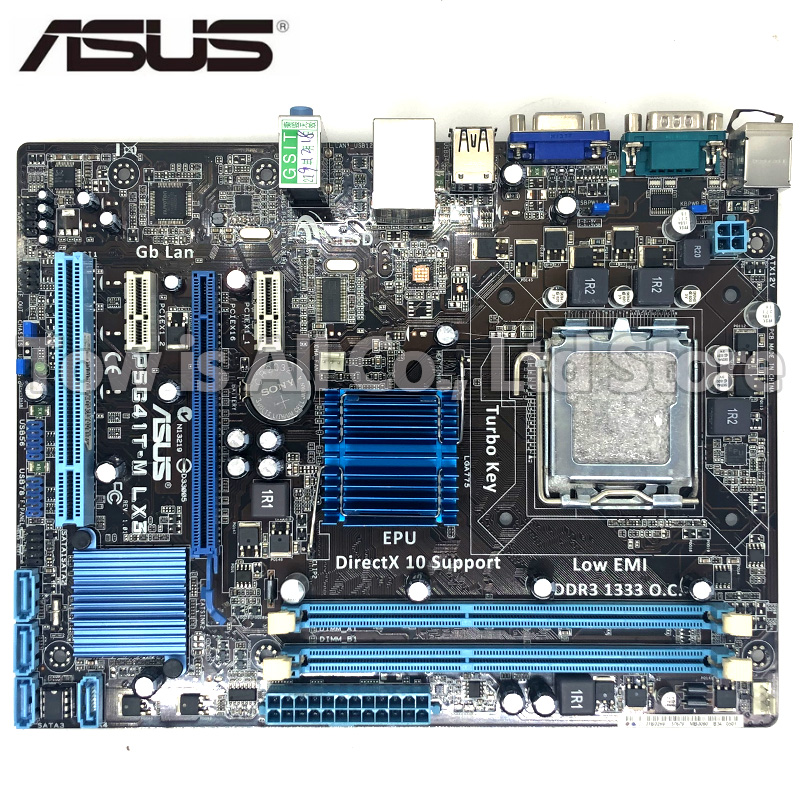 Asus P5G41T-M LX3 Desktop Motherboard for <font><b>intel</b></font> G41 Socket LGA 775 Q8200 <font><b>Q8300</b></font> DDR3 8G Mainboard PC image