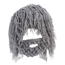 Handmade Knitted Men Winter Crochet Mustache Hat Beard Beanies Face Tassel Bicycle Mask Hiking Ski Warm Cap Funny Hat Gifts цены
