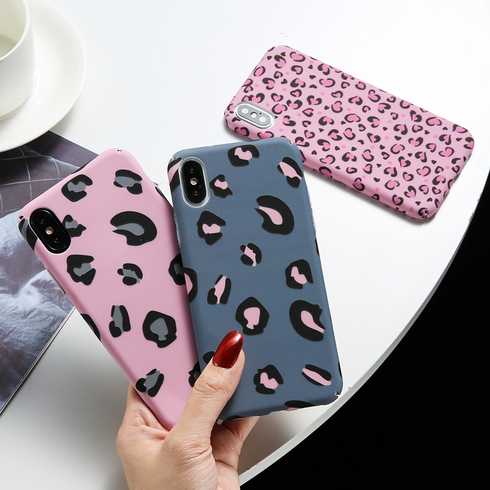 KISSCASE Luminous Phone <font><b>Case</b></font> For <font><b>iPhone</b></font> 6 <font><b>6S</b></font> 7 8 <font><b>Plus</b></font> X New Sexy Leopard Print Back Cover For <font><b>iPhone</b></font> 6 <font><b>6S</b></font> 7 8 <font><b>Plus</b></font> X XS Max XR image