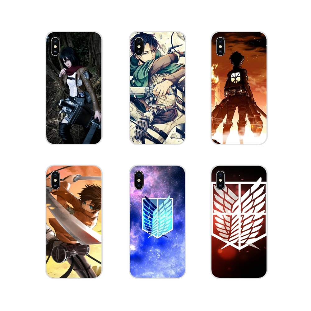 Accessories Phone Cover For Apple iPhone X XR XS 11Pro MAX 4S 5S 5C SE 6S 7 8 Plus ipod touch 5 6 anime attack on titan garrison