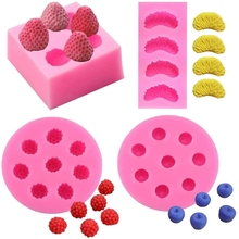 Candle Mold Mini 3d Strawberry Raspberry Blueberry Tangerine Segment Fruit Fondant Soap Candle Mulberry Wax Melts silicone Molds