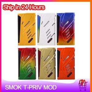 Image 1 - Orijinal SMOK t priv 220W kutusu MOD çift 18650 pil elektronik sigara Vape Mod için 510 konu