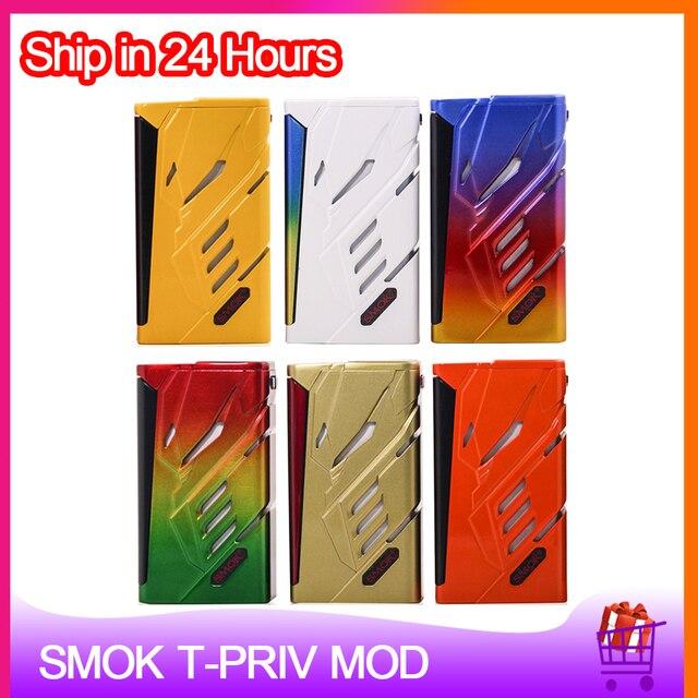 Orijinal SMOK t priv 220W kutusu MOD çift 18650 pil elektronik sigara Vape Mod için 510 konu