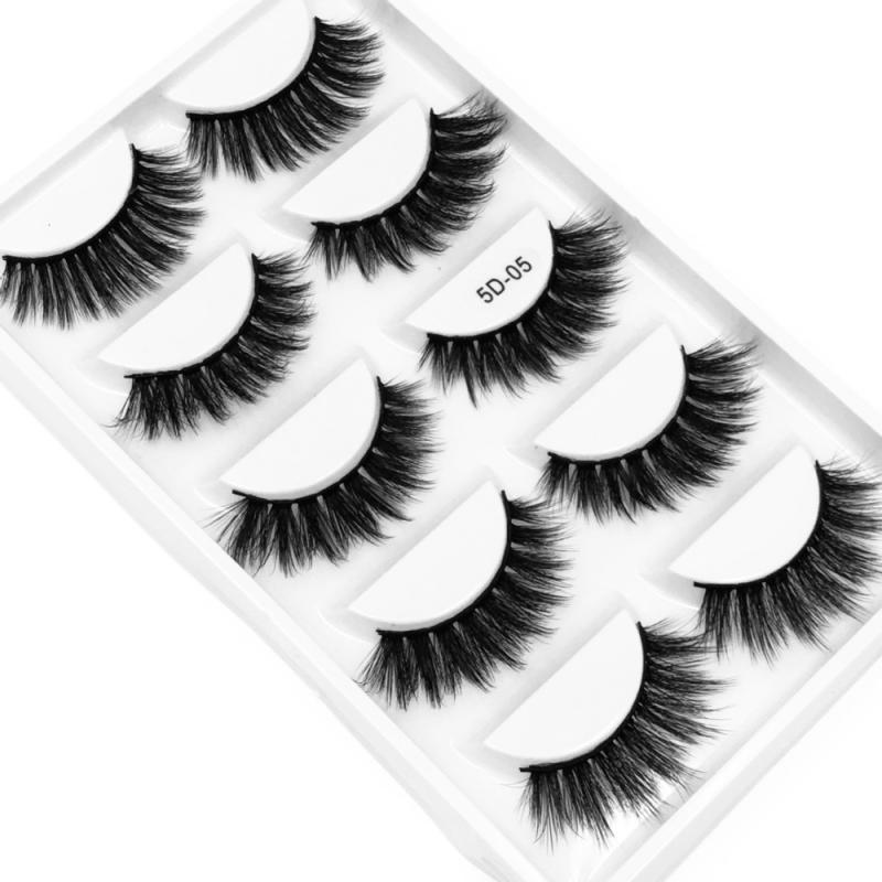 Fashion 5Pairs 3D Black Hair False Eyelashes Natural/Thick Long Eye Lashes Wispy Makeup Beauty Extension Tools TSLM1