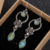 Indian Tribal Personality Natural Dangle Drop Earrings Resin Stone Boho Ethnic Vintage Hanging Earrings 2019 for Women