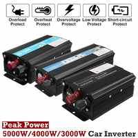 Solar Power Inverter 12V 220V 3000W/4000W/5000W Car Power Inverter Voltage Transformer Converter Solar Inversor Black