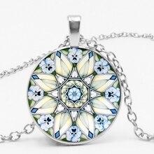 HOT!New Flower of Life Necklace Om Yoga Chakra Pendant Mandala Fashion Glass Dome S Jewelry