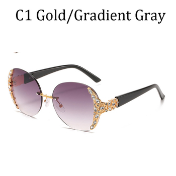 New classic fashion diamond sunglasses uv400  1