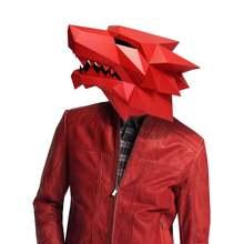 3d Бумажная Маска модный костюм werewolf в виде животного косплей
