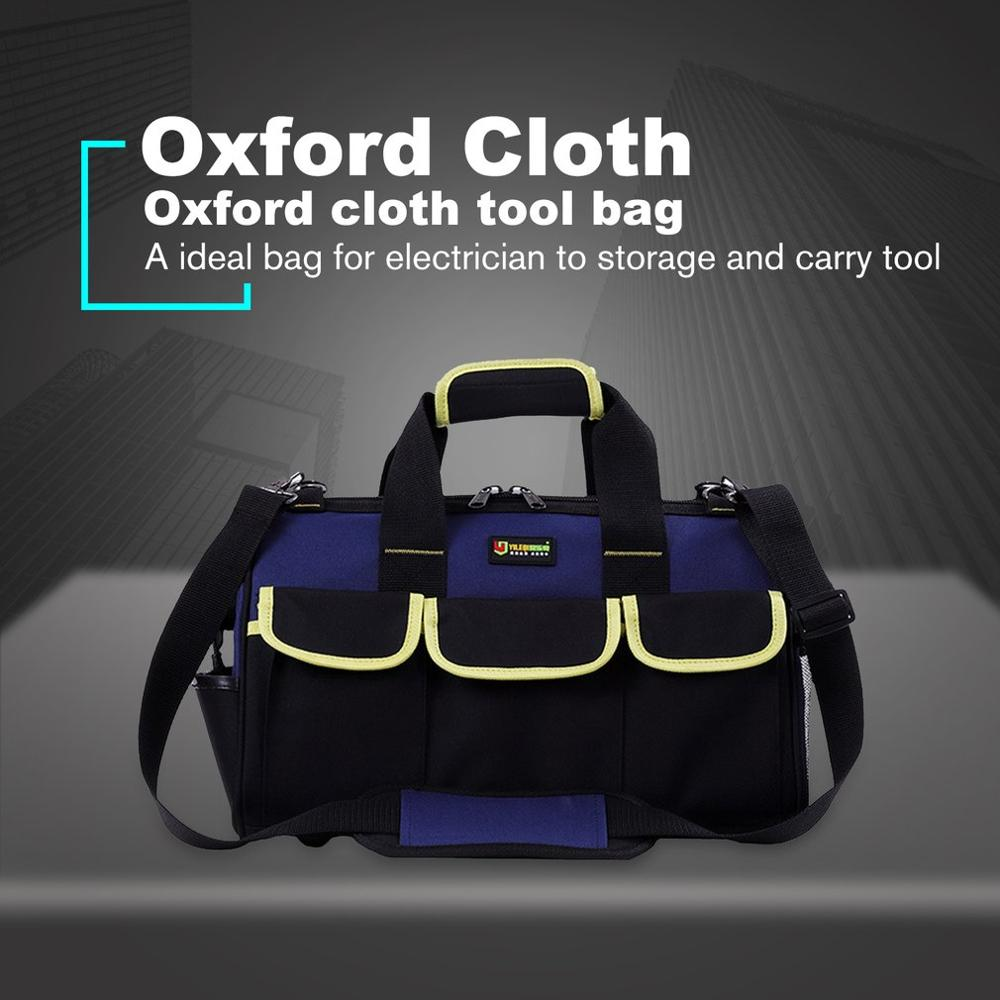 14/16/20 Inch Large Capacity Tool Bag Waterproof Electrician Bag Plastic Bottom Men's Oblique Bag Tool Handbag