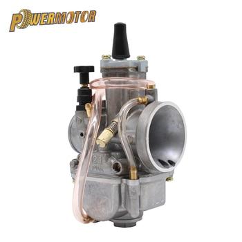 PowerMotor 2T 4T Universal de la motocicleta Carburador 21 24 26 28 30 32 34mm con poder Jet para Racing Moto 50cc Carburador 300cc