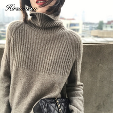 Sweater Women Pullover Turtleneck Knitted Jumper Ladies Thicken Korean Hirsionsan Casual-Tops