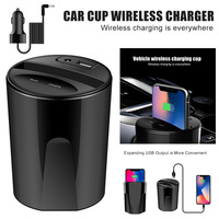 Car Wireless Charger Cup Charge Stand Charging Pad with USB Output for Smartphone XR657