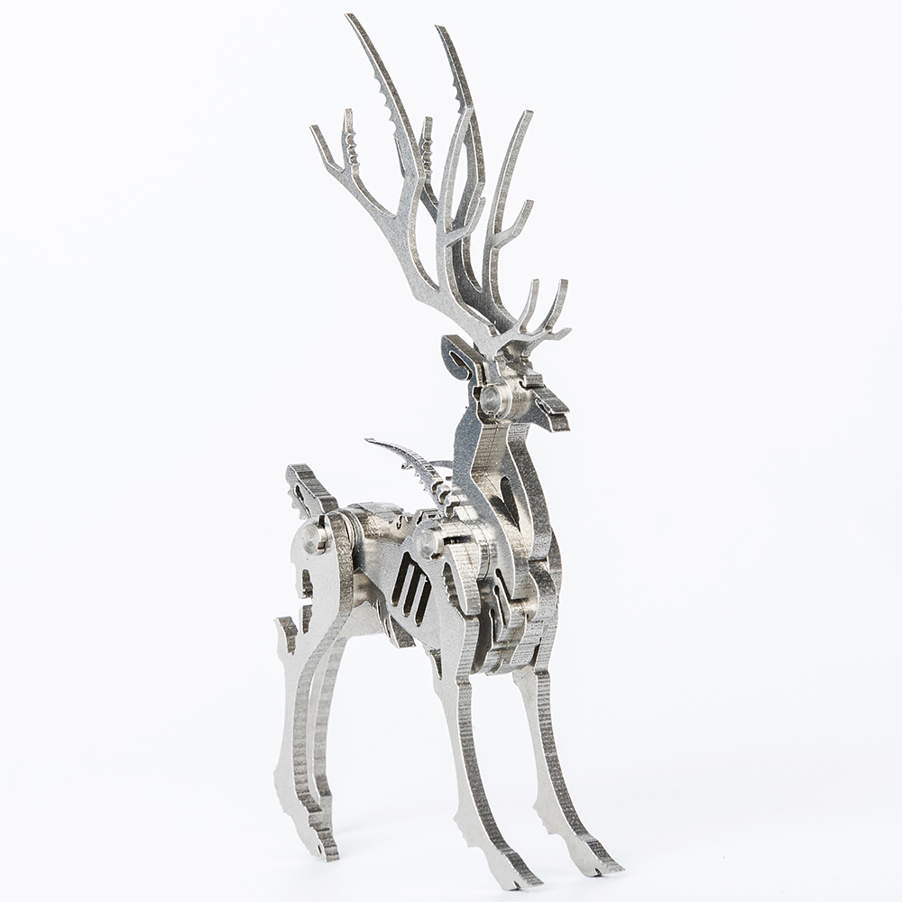 Elk 3D Steel Metal  Joint Mobility Miniature Model Kits Puzzle Toys Children Educational Boy Splicing Hobby Building