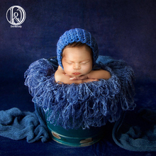D&J Hand Crochet Blanket Fringe Newborn Baby Photo Prop Baby Blanket Photography Prop Basket Filler Stuffer Photography Rug Mat