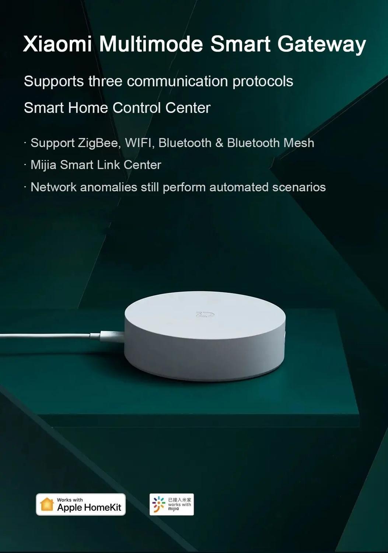 lowest price Xiaomi Smart Multifunctional Gateway 3 WiFi Remote Center Control RGB Light Home Security Device Support Aqara Apple Homekit APP