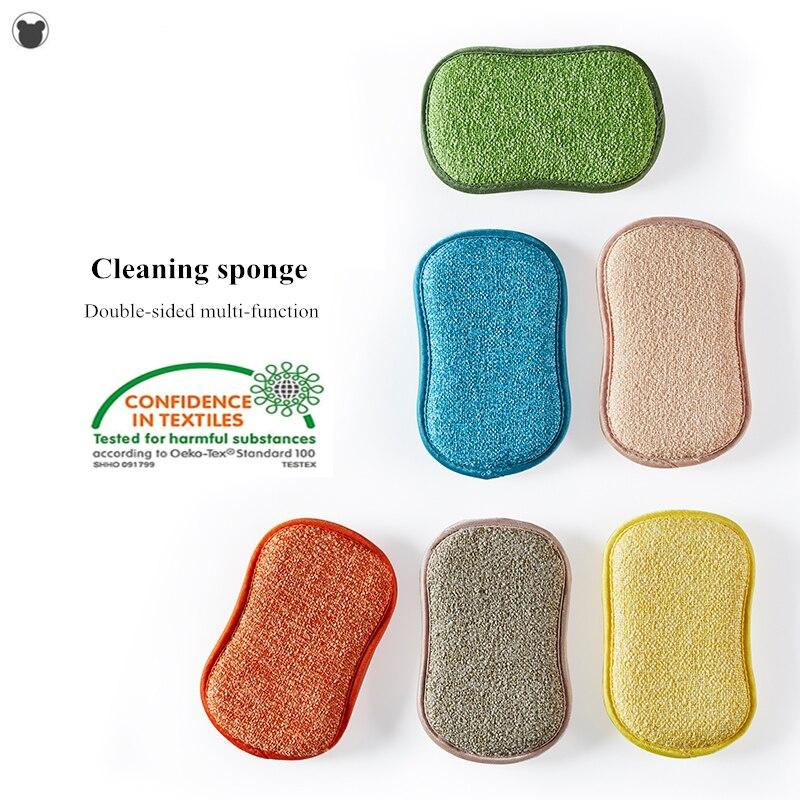 Cozinha/banheiro esponja mágica escova de esponja de alta eficiência para não vara pot limpeza esponjas cozinha ferramentas lavar pote gadgets Escovas de limpeza    - AliExpress