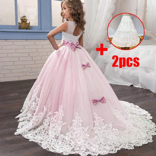 2019 Vestido Largo De Fiesta De Verano Para Niñas Vestido De Noche Para Niños Vestidos De Fiesta De Princesa Para Niñas 10 12 Años