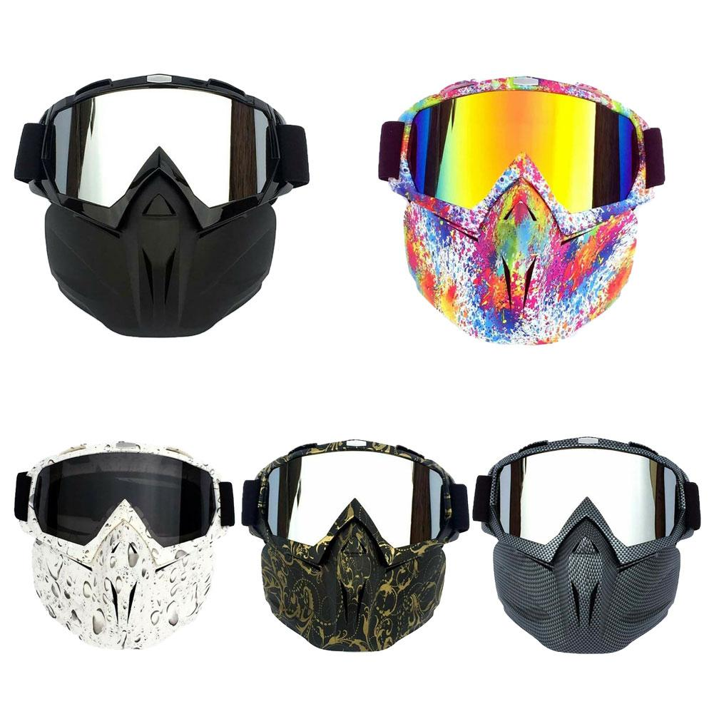 Motorcycle Clear Lens Comfortable Face Mask Goggles Motocross Off-road ATV Dirt Bike Eyewear Glasses Motocross Goggles
