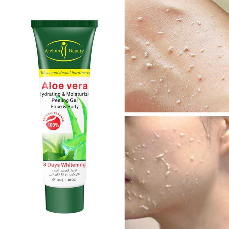 Aloe Vera Deep Cleansing Exfoliating Peeling Gel Temperature Moisturizes Face Exfoliating Organic Facial Cream Scrub Cleaner