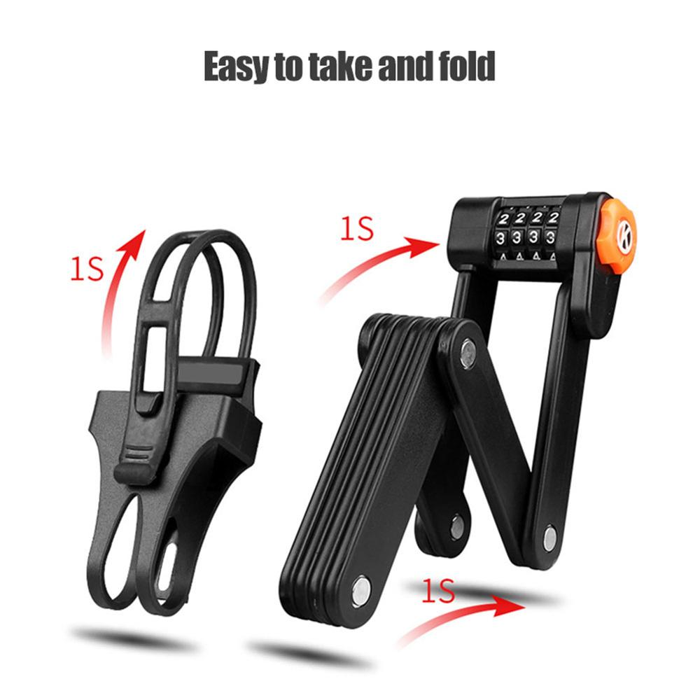 Bicycle Alloy Steel Folding Lock Anti-theft Lock Password Lock Road Bike Lock Bike Accessories Password Lock Folding Lock