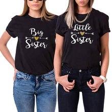 Camisa de manga curta das mulheres da irmã mais velha da irmã de lettle tshirt