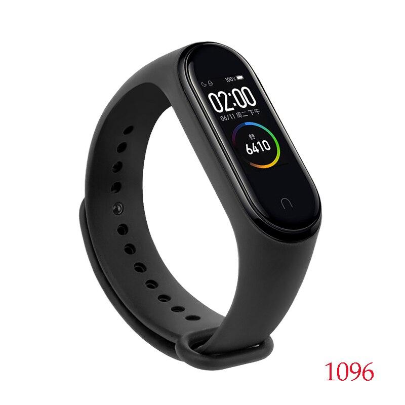 Для Xiaomi Mi Band 4/3 ремешок Металлическая пряжка силиконовый браслет аксессуары miband 3 браслет Miband 4 ремешок для часов М - Цвет: 1096