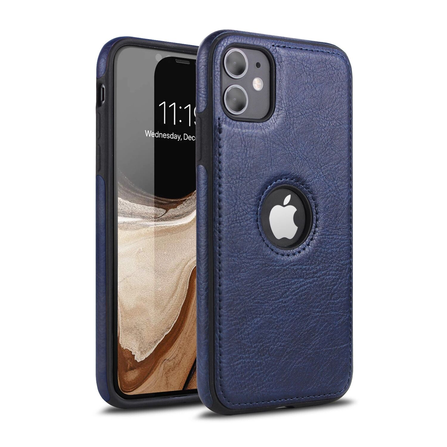 Applicable Car Line Skin Stitching Mobile Phone Skin Case For iPhone 11pro Max 1