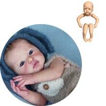 18 дюймов Bebe комплект кукол виниловые из мягкой натуральной сенсорный реальные Неокрашенные Пустые формы LOL милые детские 46 см, ручная работ...