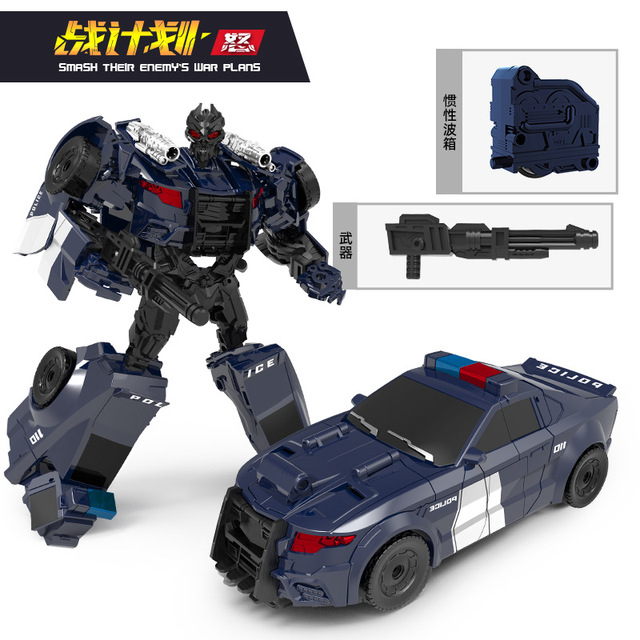 Deformation toy King Kong toy roadblock police car King Sky alloy movie model robot hand-made toy boy over 6 years old gift