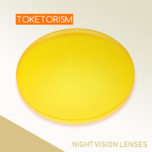 Toketorism prescription sunglasses yellow lenses night vision for men women colored lenses for eyes YS001
