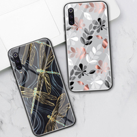 Hojas de flores funda de teléfono para Xiaomi Redmi Note 8 9 7 6 Pro 8T K20 K30 Mi 10 9 9T 8 Pro SE A3 A2 Lite 6X F1 de vidrio templado Fundas