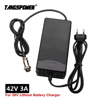 42V3A charger 42V 3A electric bike lithium battery charger for 36V lithium battery pack Plug 3P GX16 Connector High quality 16s 67 2v 1 5a lithium battery charger for electric bike 60v li ion battery charger 3p gx16 connector