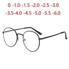 Bloqueo de luz azul estudiante miope gafas mujeres hombres literaria Oval-vista espectáculo dioptrías 0-1,0-1,5-6,0