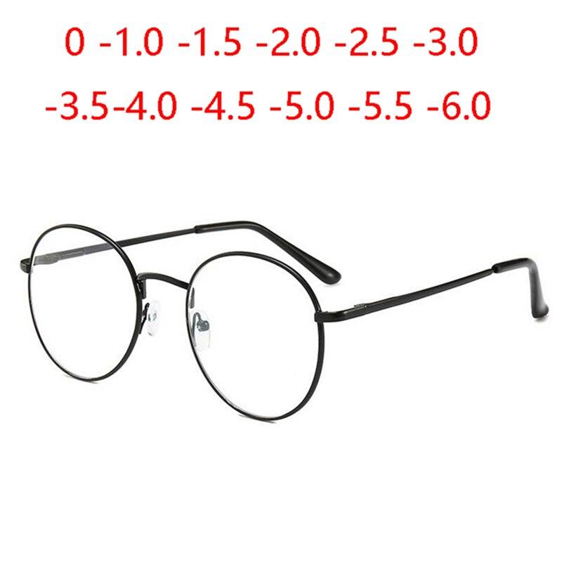 Óculos para mídia, óculos de luz azul bloqueador, unissex, literário, oval, dioptria 0 -1.0 -1.5 para-6.0