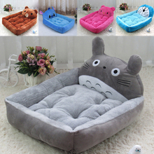 Cartoon Totoro Stitch Pet Dog Bed Mat Cute Animals Shaped Pet Blanket Sofa Removable Warm Breathable Kennel Cat House Nest Home