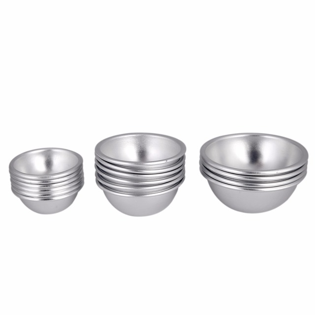 16pcs Semicircle Sphere Aluminium Alloy Bath Bomb Molds DIY Tool Bath Bomb Salt Ball Homemade Crafting Gifts Mold 4