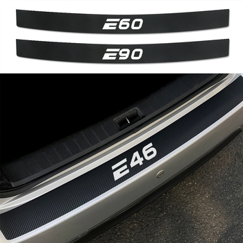 Car Stickers For BMW E46 E39 E90 E91 E60 E36 E92 E30 E34 E70 E87 Accessories Auto Rear Bumper Trunk Tail Carbon Fiber Protector image