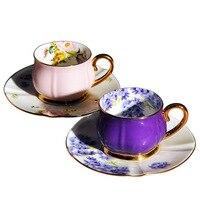 European Phnom Penh Bone China Coffee Cup Saucer Restaurant Household Dish Ceramic Couple Cup Saucer