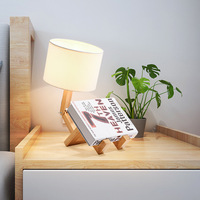 Simple Solid Wood Bedside Lamp Nordic Creative Table Lamp Fabric Decorative Desk Lamp Table Lamps for Living Room Bedside Lamp|LED Table Lamps| |  -