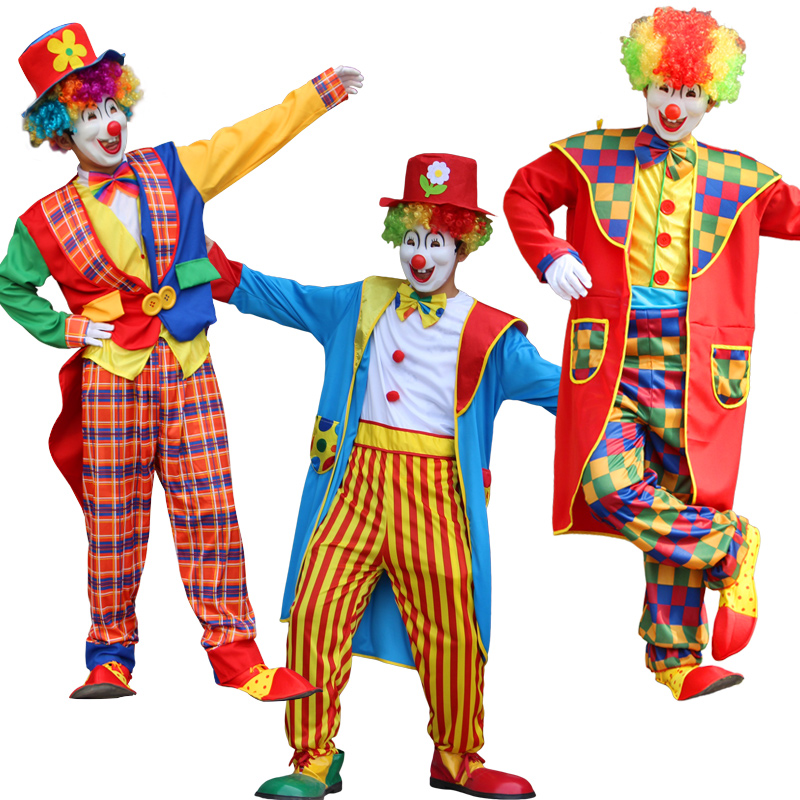 Halloween Adult Funny Circus Clown Costume Naughty Harlequin Uniform Fancy Circus Dress Cosplay Clothing For Adult