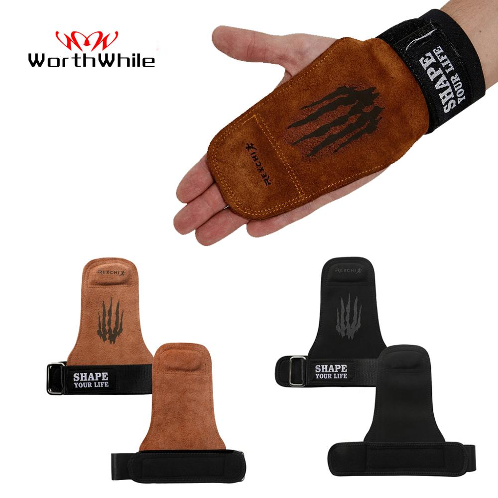WorthWhile Power Weight Lifting Hand Grips Gymnastics Gloves Palm For Gym Fitness Protector Crossfit Workout Wrist Support