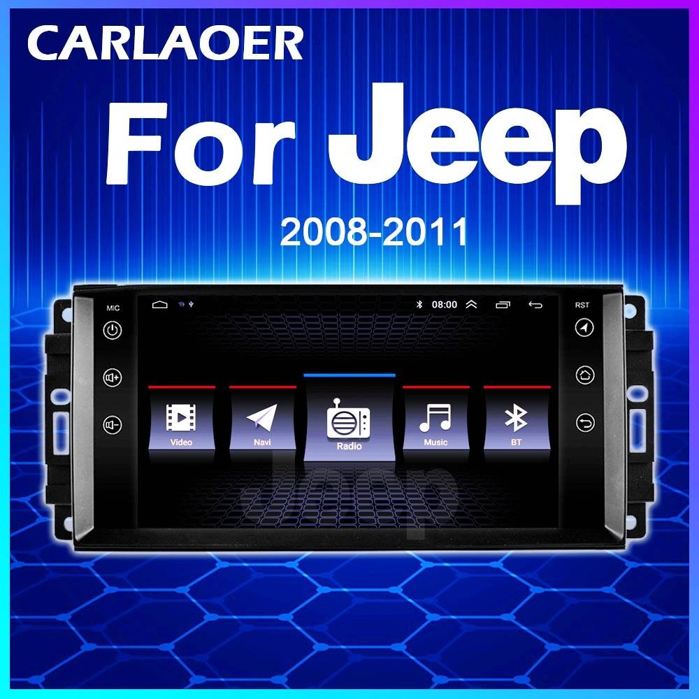 Carro android rádio estéreo multimídia para jeep cherokee compass comandante wrangler 300c dodge calibre liberty 2009 2008 2010 2011