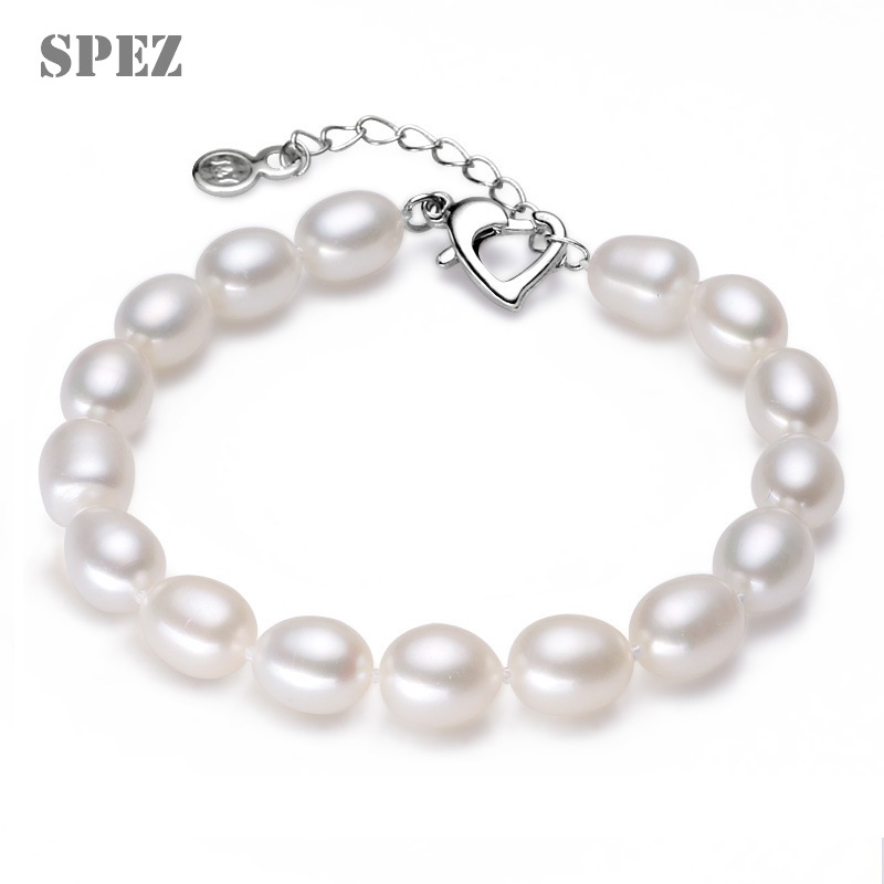 new fashion genuine Pearl Bracelets for women Jewelry Gift Natural Freshwater Water Drop Pearls 7-8mm spez