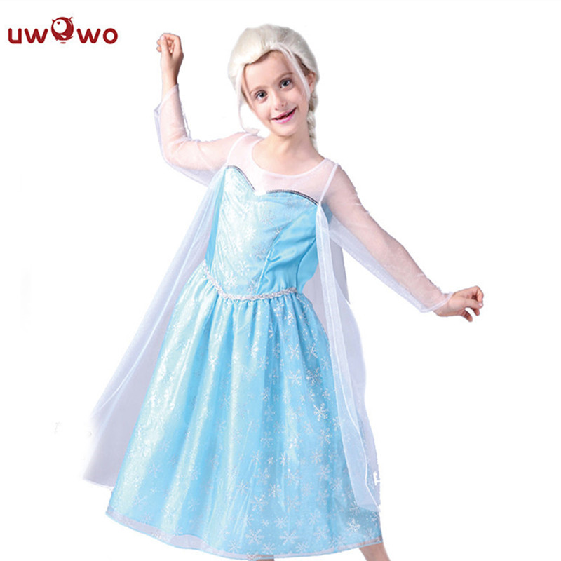 UWOWO Frozen Elsa Cosplay Dresses Halloween Costume For Kids Child Baby Costume