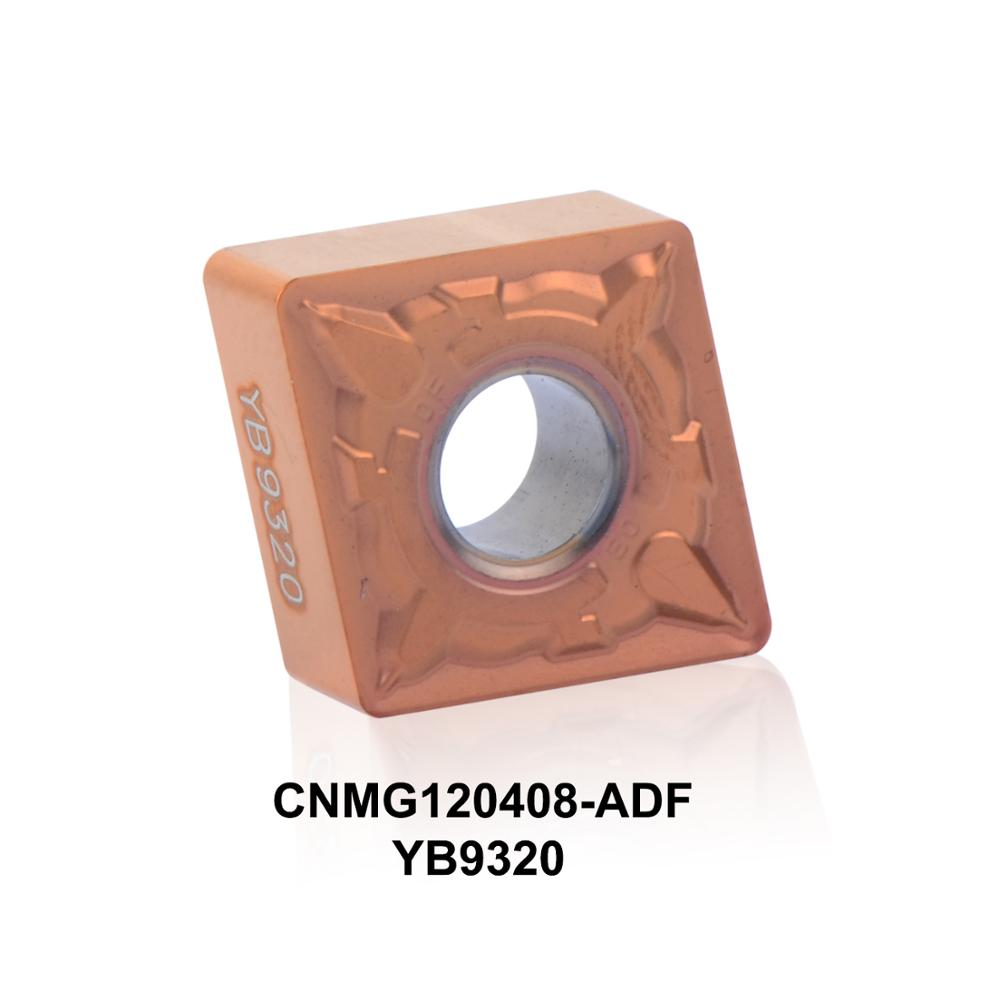 2016 جدید CNC درج عطف CNMG120408-ADF YB9320 با مقاومت بالا برای ابزار چرخش فولاد ضد زنگ CNMG120408 CCMT432
