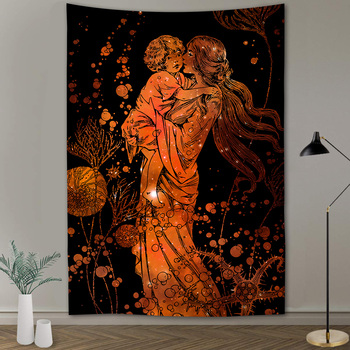 Simsant Psychedelic Shrooms Tapestry Colorful Abstract Trippy Tapestry Wall Hanging Tapestries for Home Dorm Fantasy Decor 27