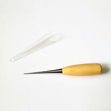 1 pic szydło pozycjonowanie wiertła narzędzia do skóry dziurkacze kaletnicze drewna uchwyt szwy DIY narzędzia kaletnicze DIY drewna szydło tanie tanio Wood metal Leather Stitching Awl Professional Tools
