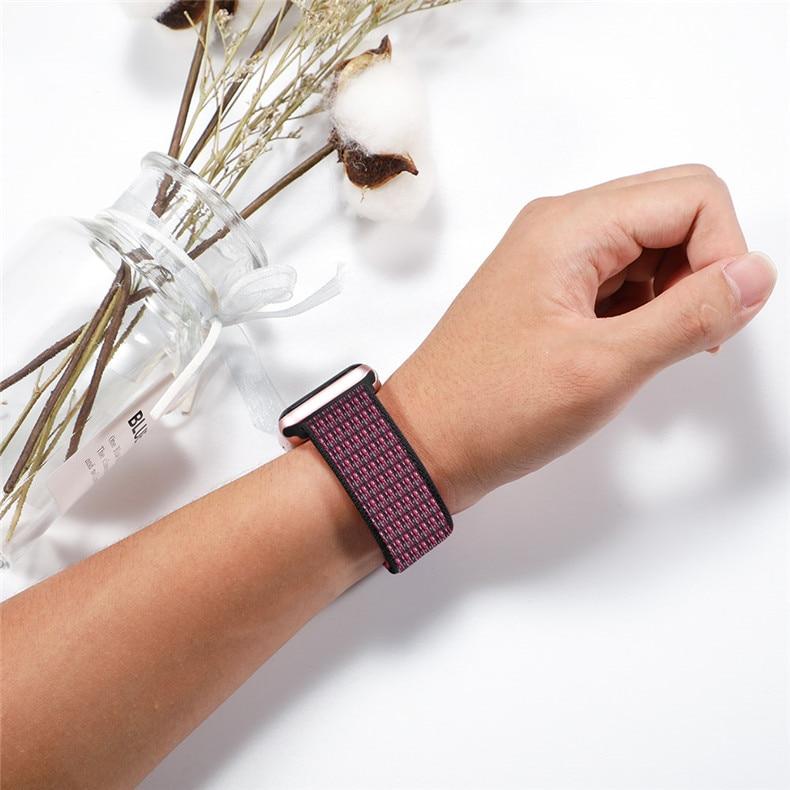 Спортивная петля ремешок apple watch band 42 мм 38 мм apple watch 4 3 band iwatch band 44 мм 40 мм correa pulseira 42 44 нейлоновый ремешок для часов